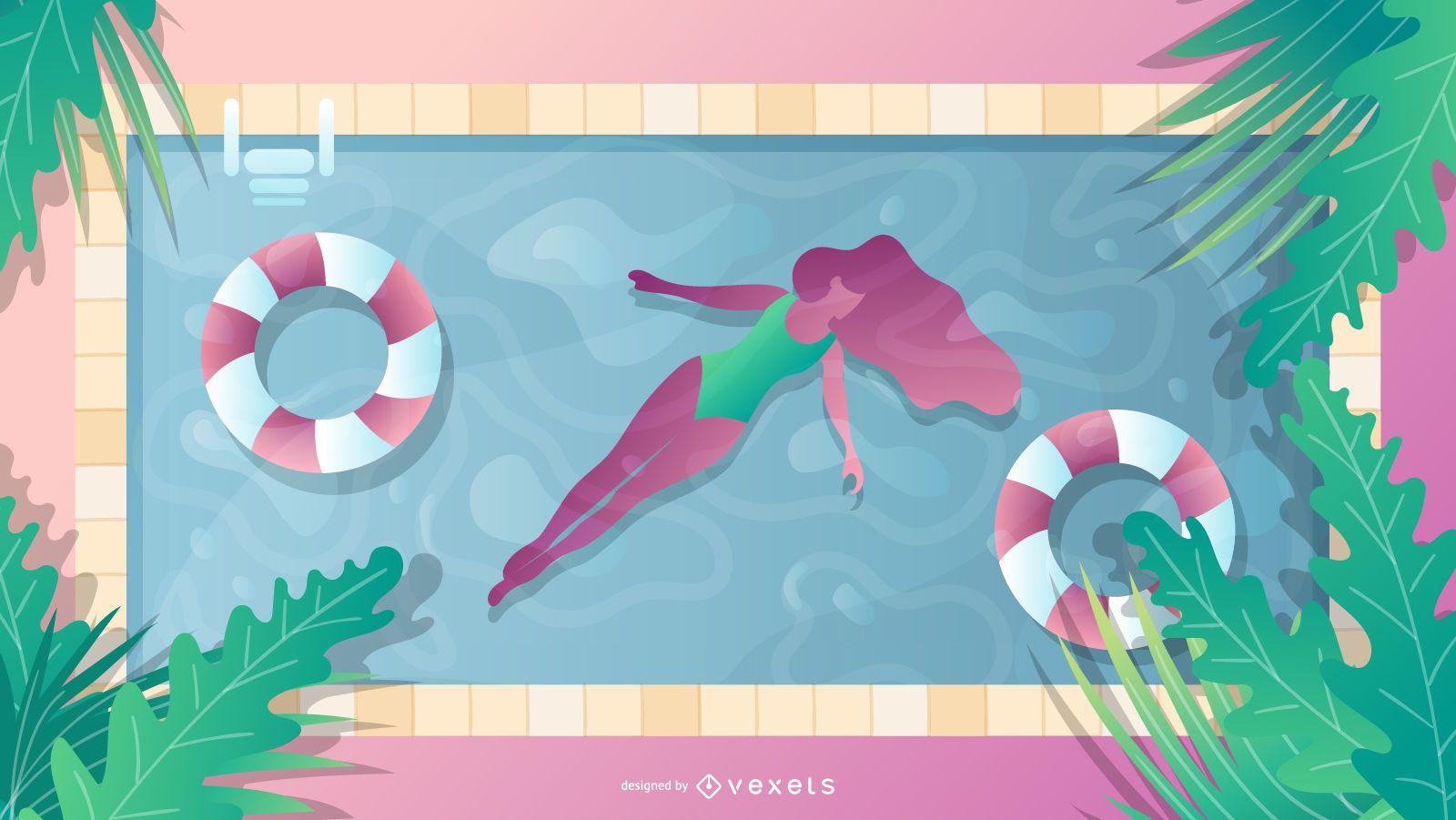 Projeto de piscina de verão