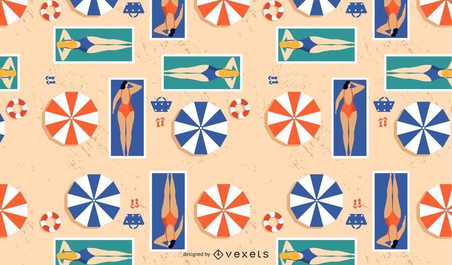 Mädchen am Strand Muster