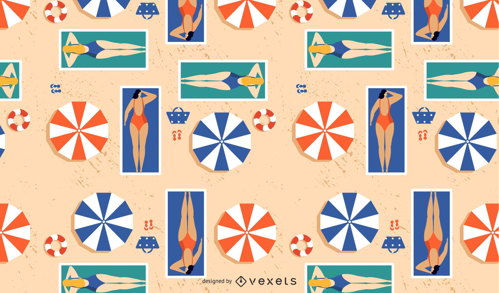 girls on the beach pattern