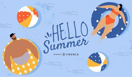 olá design de verão