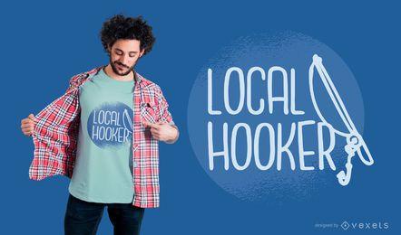 Design de camiseta local Hooker