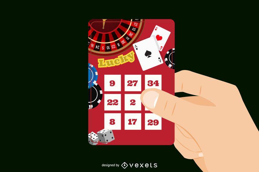 Ilustración de boleto de lotería