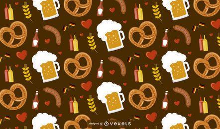Oktober Fest Food Pattern