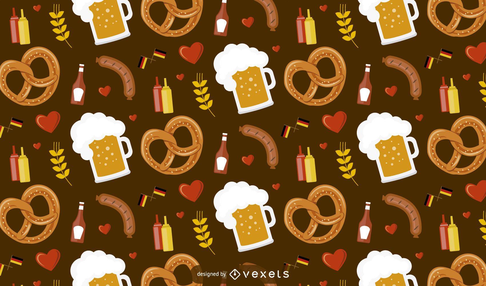 Oktoberfest Food Pattern