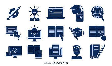 Ausführliche Schattenbild-Sammlung der on-line-Bildung