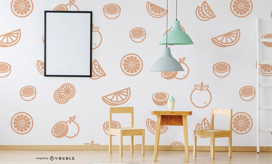 Patrón de fruta naranja