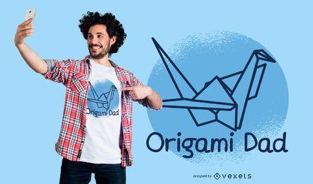 Diseño de camiseta de origami Dad