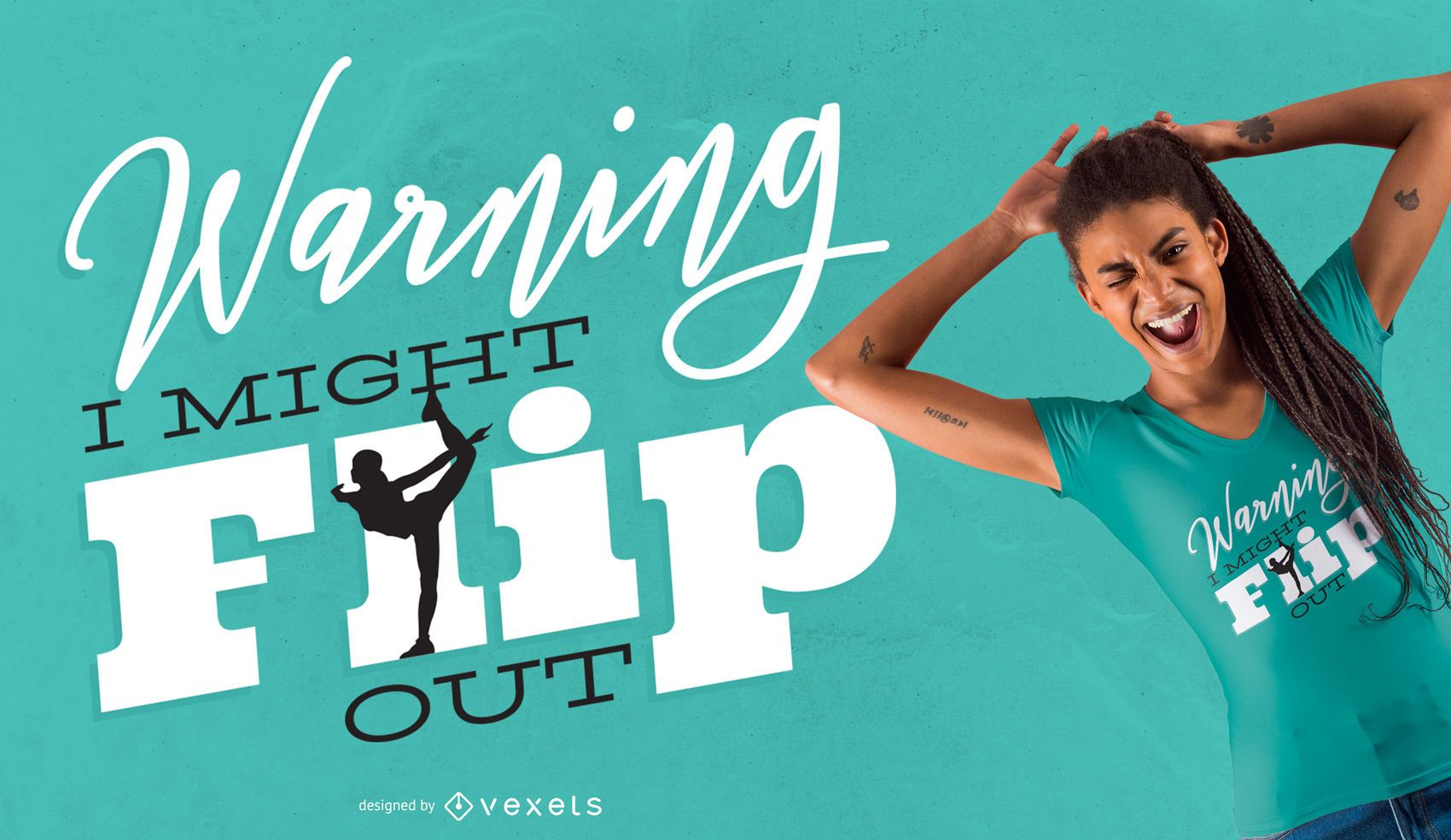 Gymnast flip t-shirt design