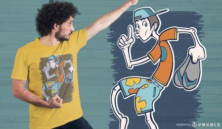 Diseño de camiseta de chico silencioso