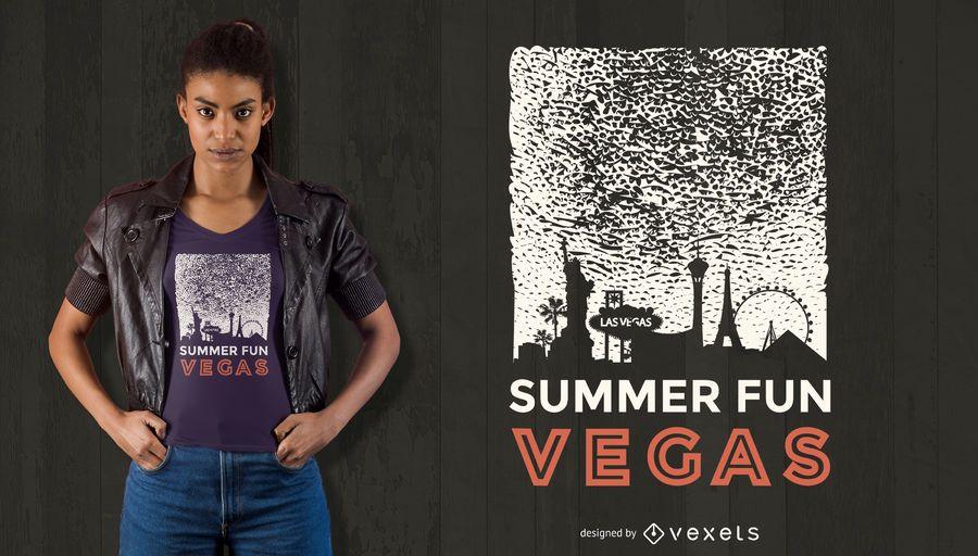 Diseño de camiseta de verano vegas divertidas.