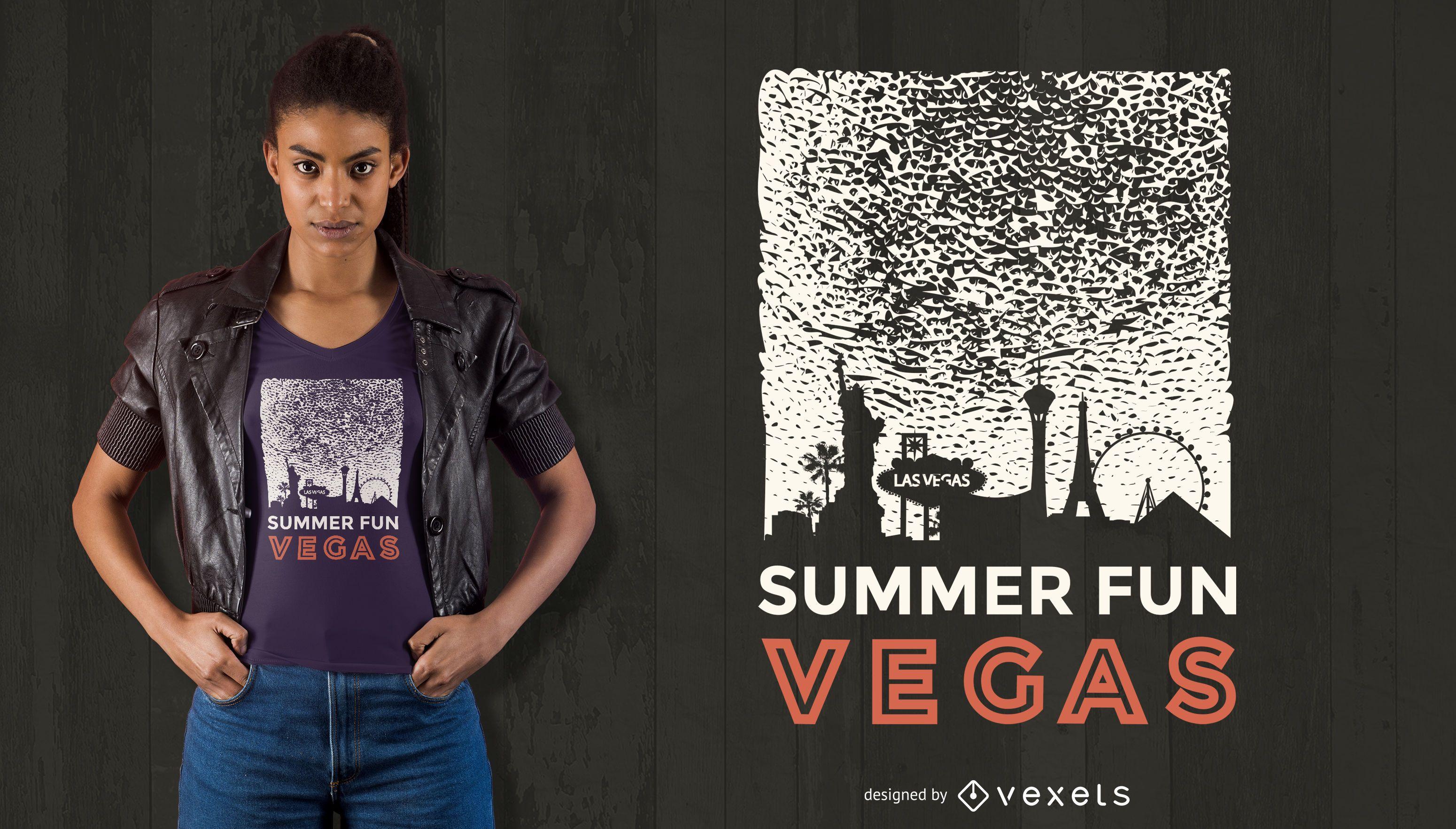 Diseño de camiseta Summer Fun Vegas