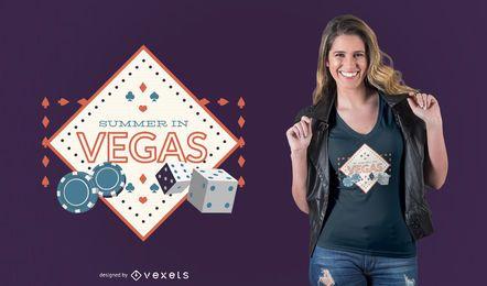 Verão em design de t-shirt de vegas