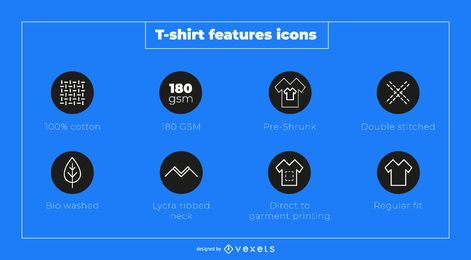 T-shirt Feature Icon Set