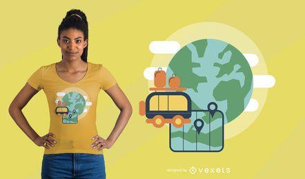 Travel Map t-shirt design