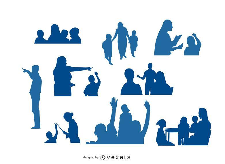teacher silhouettes designs