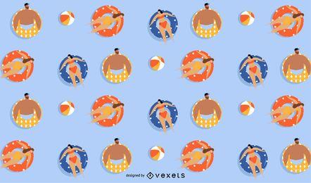 diseño de patrón de flotadores de verano