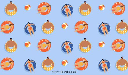 summer floaters pattern design