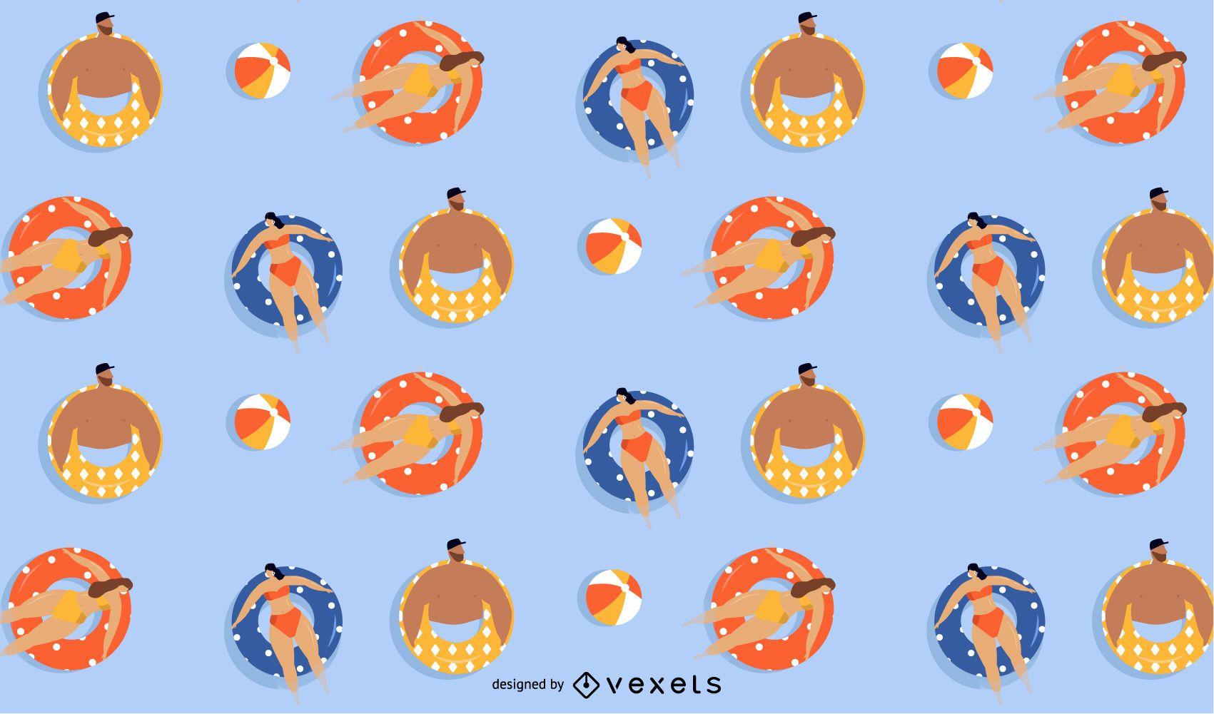 summer floaters pattern design