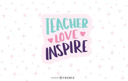 o amor do professor inspira o design
