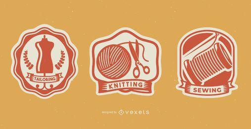 Emblemas de costura artesanal