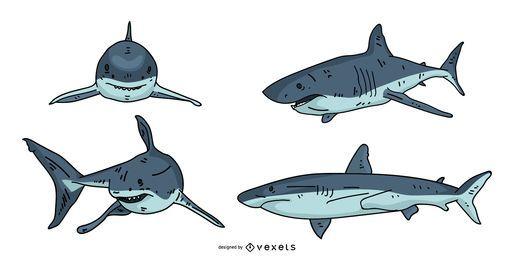 Projeto de ilustração de tubarão