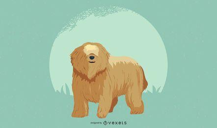 Diseño de la ilustración del perro pastor