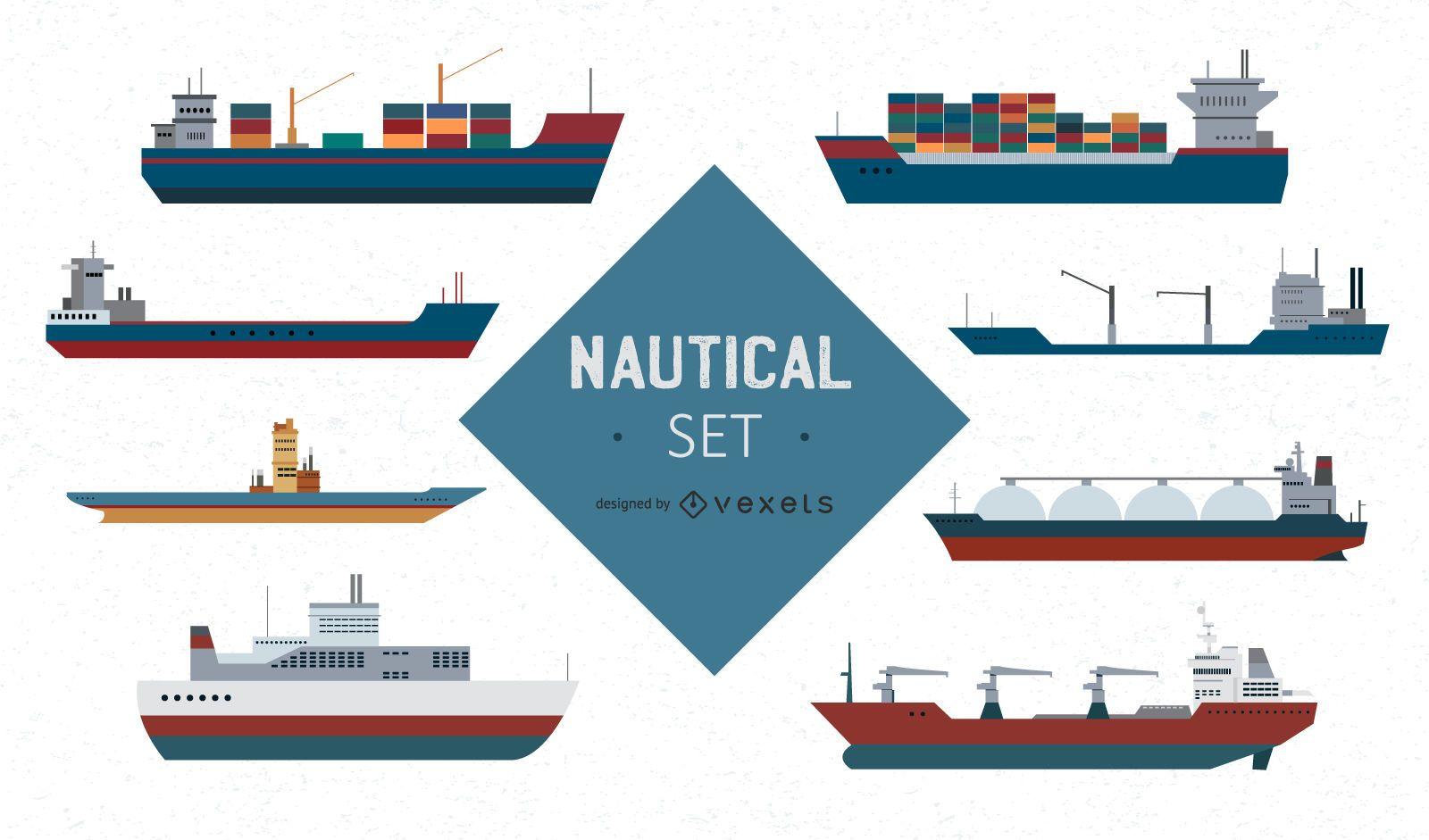 Nautical Ship Vector Set