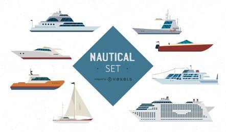 Naves de diseño vectorial