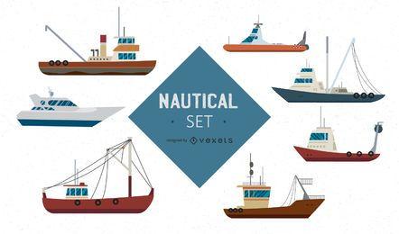 Conjunto Náutico Grandes Barcos