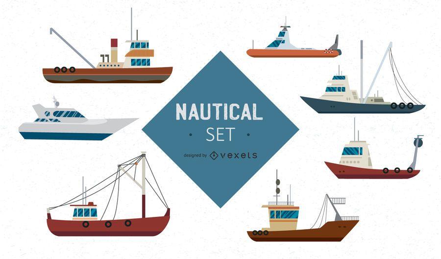 Conjunto náutico de grandes naves