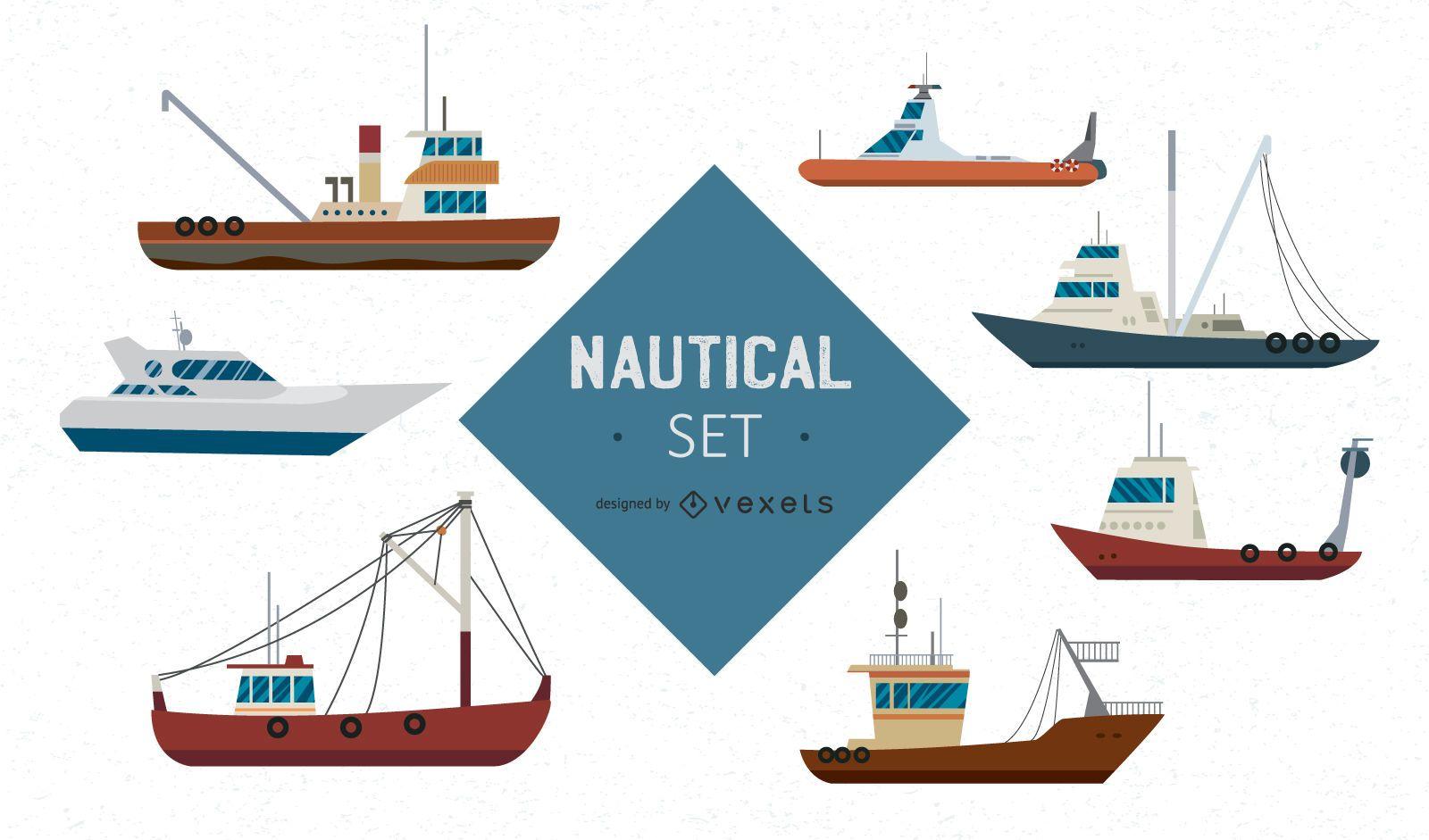 Big Ships Nautical Set