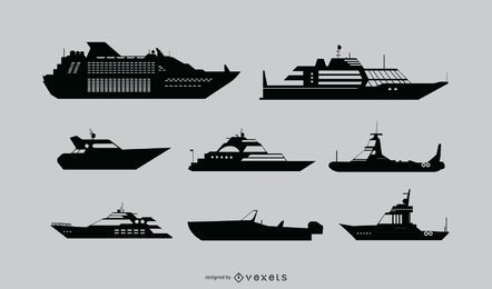 Ship Detailed Silhouette Set