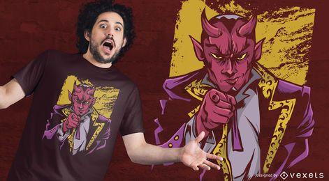 Apontando o projeto do t-shirt de Lucifer