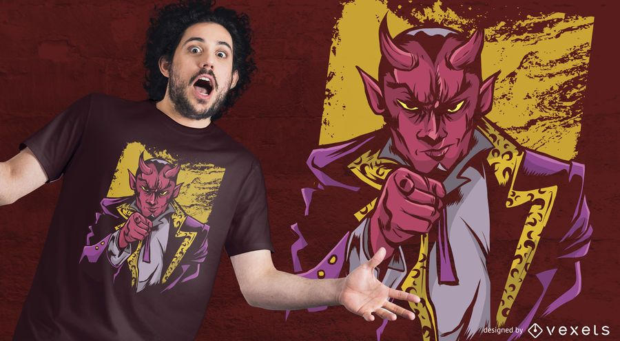Pointing Lucifer T-shirt Design