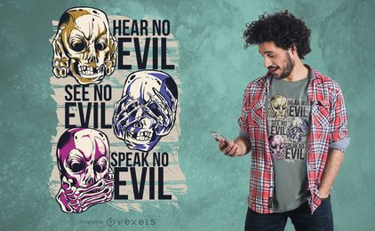 Diseño de camiseta No Evil