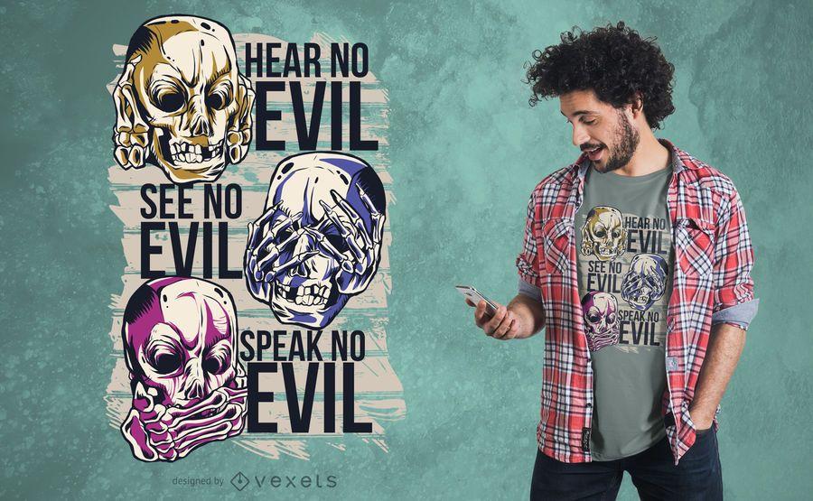 Nenhum projeto mau do t-shirt
