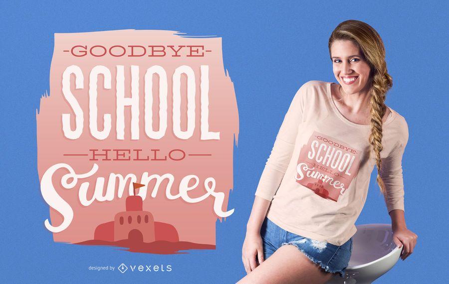 Zurück zu Schule-T-Shirt Entwurf