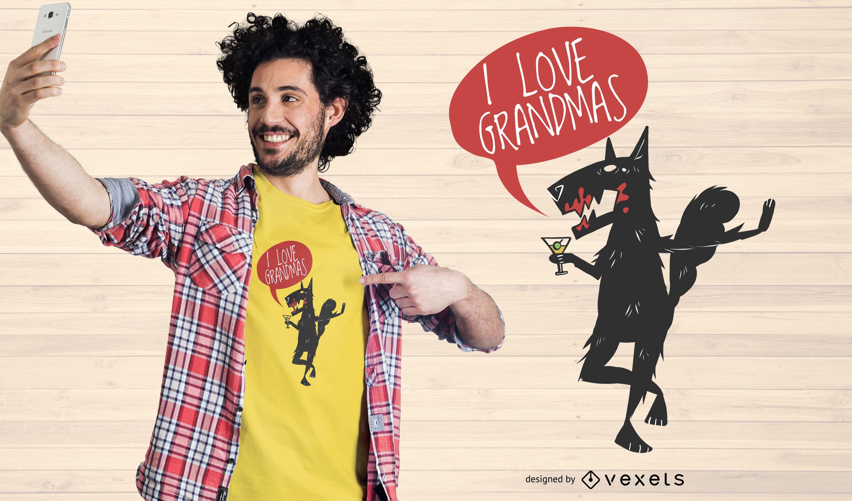 Love Grandmas T-shirt Design