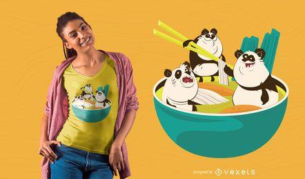 Ramen pandas camiseta de diseño