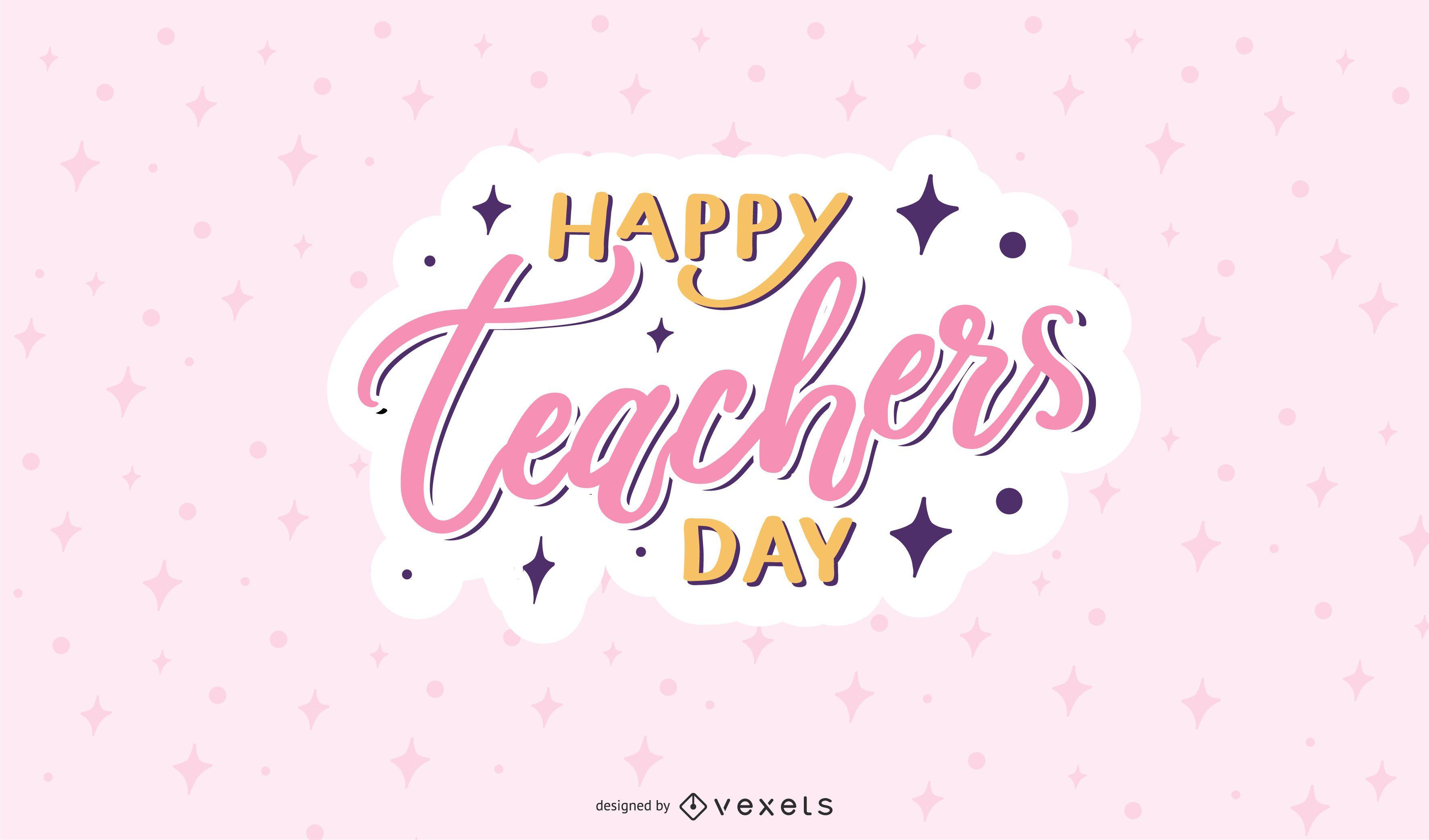 cute teachers day design