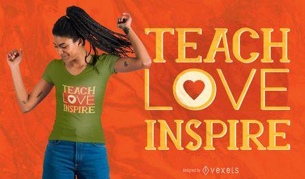 design do t-shirt das citações do professor