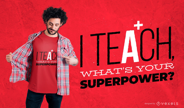 ensinar citação design de camisetas