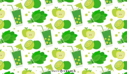 Green detox pattern design