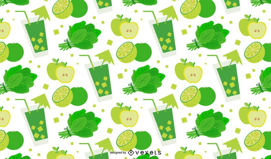 Diseño de patrón de desintoxicación verde