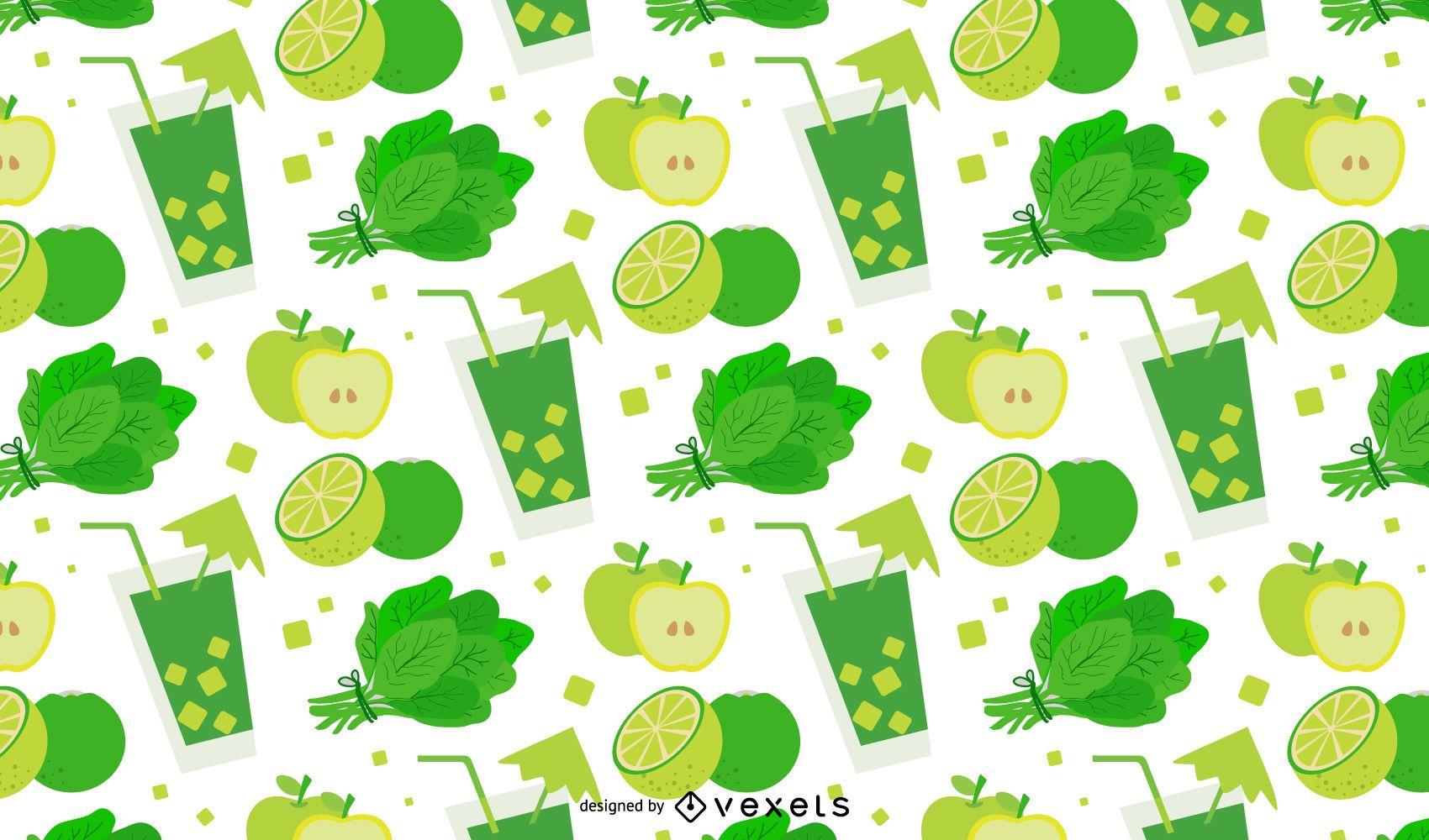 Green detox pattern design