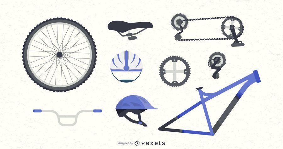Conjunto de peças de bicicleta