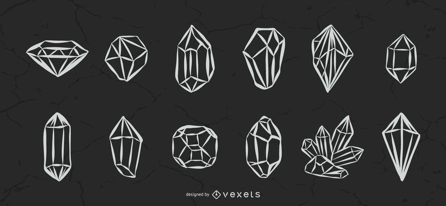 Illustrated Crystals Set