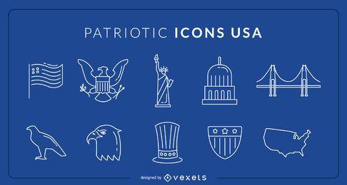 Ícones patrióticos dos EUA