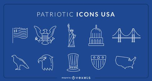 USA Patriotic Icons