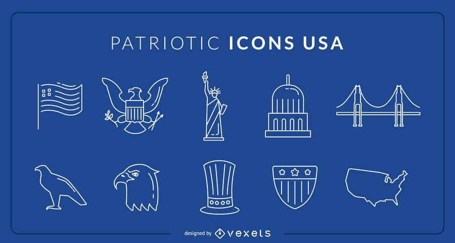 USA Patriotic Icons